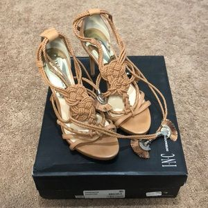 INC International Concepts Tie-Up Sandal Heels